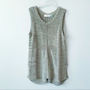 Anthropologie Sparrow Open Knit Tunic Top Like New